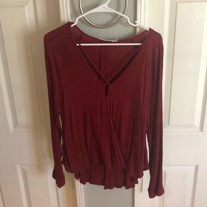 Lush burgundy blouse